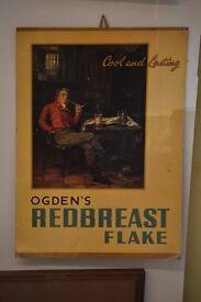 Vintage Ogden Redbreast Flake Advertising