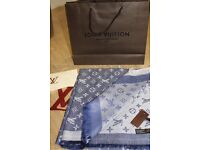 Luxury Louis Vuitton denim blue Scarf /Shawl - brand new