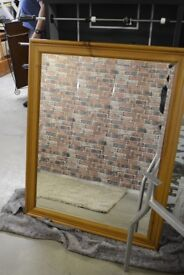 extra large solid wood mirror £20
