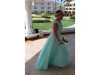 Blue prom or bridesmaid dress