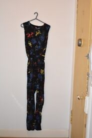 Black with floral print Jumpsuit from Dorothy Perkins size 18