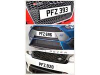 PFZ 393, 696, 828 Number Plates Audi BMW Volvo Ford Evo Subaru Honda Toyota Kia GTI M3 RS