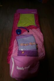 "Girls Ready Bed and ""Dora the Explorer"" sleep sac"