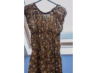 INDIAN SUMMER DRESS, KNEE-LENGTH, SIZE SMALL