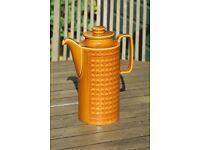 Hornsea coffee pot .saffron design 1974 .