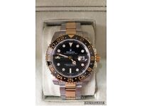 Rolex GMT master 2 bi metal oyster gold & silver luxury automatic watch new in SWISS WAVE BOX