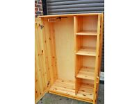 Solid pine nursery/childs wardrobe
