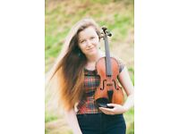 Friendly and qualified children's violin teacher in Glasgow VIA ZOOM