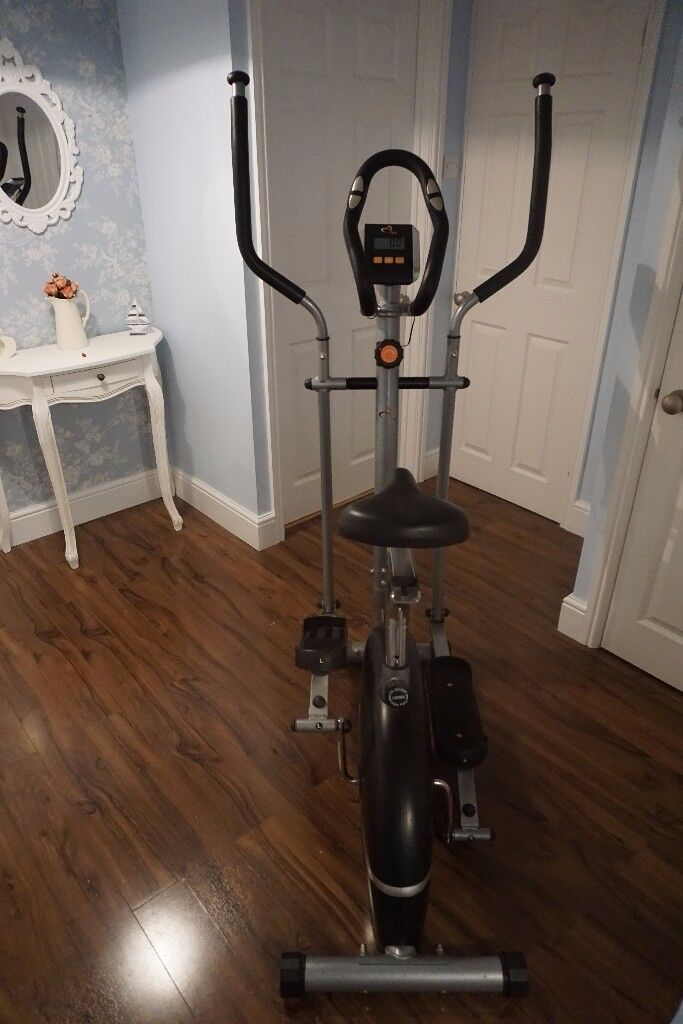 Crosstrainer, Cross Trainer, V-Fit Combination 2 in 1 Cycle & Elliptical Trainer, Exercise Bike