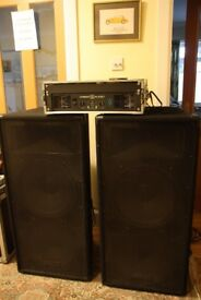Powerful and Loud Speakers and Amplifier