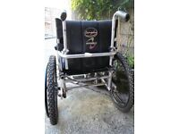 Wheel chair can attach to electric trike on front (PDQ type)