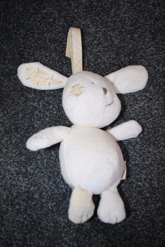 Mamas and Papas ZEDDY PARSNIP CHIME TOY CAR SEAT PRAM COT RATTLE rabbit -can post-