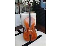 4/4 Lothar Semmlinger Cello from 2005 in great condition with Hiscox travel case