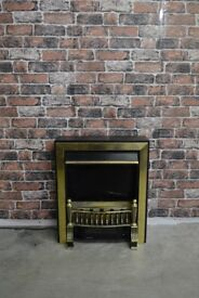 BLACK AND GOLD ELECTRIC FIRE £30