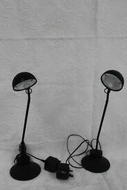 Two Ikea desk Lamps