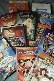20 family childrens dvds (Disney Dreamworks etc)