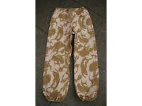 British Army Issue Goretex Trousers - Desert Pattern