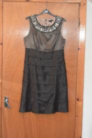 Next dress, Party Dress, black/gold, size 10