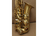 Selmer Super Action 80 Series II alto saxophone, Matte with gold lacquered keys, mint condition
