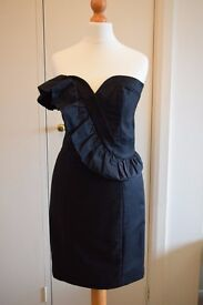 French Connection black dress, worn once, excellent condition, size 6.