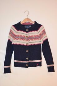 Girls 6y 116cm Joules 100% wool Knitwear Excellent Used Condition