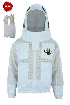 Ultra Ventilated 3 Layer Bee Beekeeper Beekeeping Jacket Fencing Veil X-large