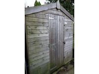 8 x 6 Solid Wood Garden Shed