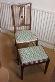 Upholstered Chair & Footstool