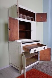 60/70 s KITCHEN LARDER RUSTIC LOTS OF MARKS NEEDS TLC RE-PAINTING - CAN COURIER