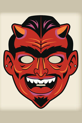 Devil Satan Vintage Mask Decoration or Halloween Costume Cutout Poster 12x18 inc](Halloween Costume Poster)