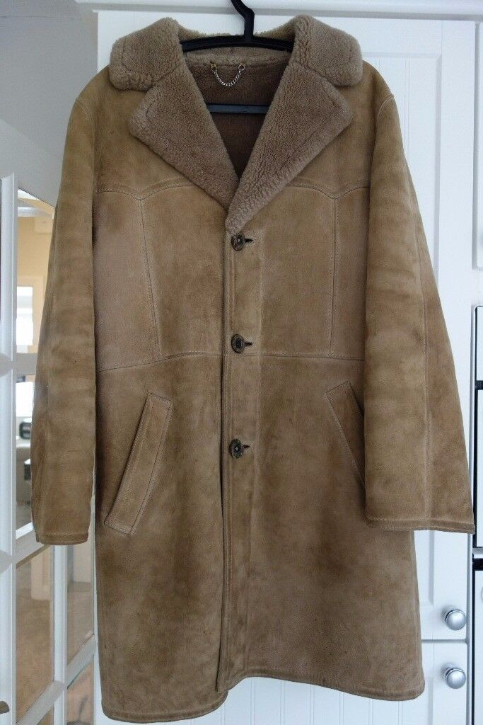 mens Lakelands sheepskin three quarter coat