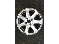 2 Renault alloy wheels for sale, complete with centre caps,..
