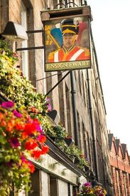 Full-time Bar/floor staff required for busy Royal Mile Pub.