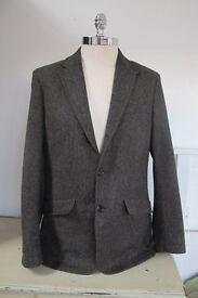 Designer Tweed Jacket - NIGEL HALL, Brown, size L (50)