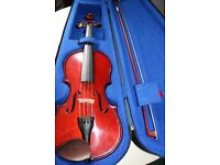 1/2 Stentor violin with case and bow