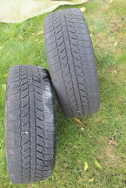 Winter tyres with wheels