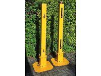 Adjustable Steel Gate Posts x 2