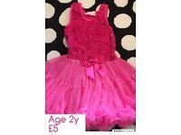Pink fluffy tutu dress 2y