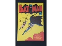 Large Batman and Robin stretched canvas picture 90 x 60 x 5 cm