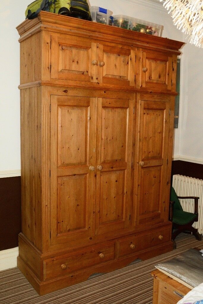 Full bedroom suite pine hand made with solid backs