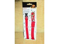 BRAND NEW Red Puppy Dog Collar and Lead Set, Histon