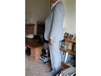 Man's silver grey suit