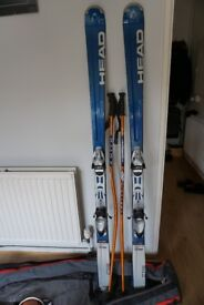 Head C115 skis, poles and bag for sale