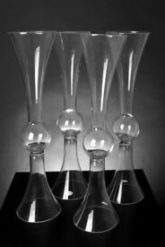 2ft (60cm)Classy Stem Vases For Sale, 4 in total. GREAT ADDITION TO ANY HOME OR BUSINESS..