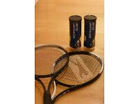 2x Tennis Racquets and Balls