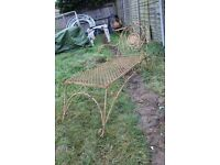 Unfinished Vintage Cast Iron Sun Loungers X2