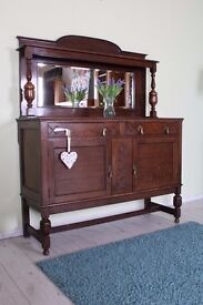 BEAUTIFUL SOLID OAK SIDEBOARD COULD BE PAINTED - CAN COURIER