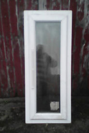 white clear opening window new with stickers