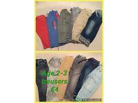 Age 2-3 boys trousers bundle