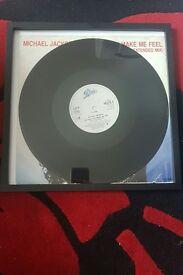 """Michael Jackson 12"""" framed Vinyl"""